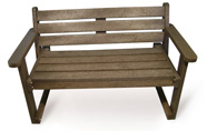 ExtruWood recycled plastic 1.2m garden bench with back