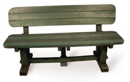 ExtruWood recycled plastic 1.6m sleeper bench with back