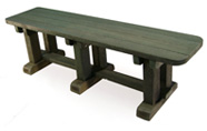 ExtruWood recycled plastic 1.6m sleeper bench
