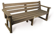 ExtruWood recycled plastic 1.8m garden bench with back
