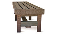 ExtruWood recycled plastic change room bench