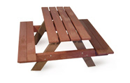ExtruWood recycled plastic kiddies picnic table