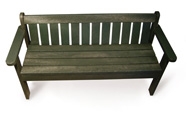 ExtruWood recycled plastic king bench