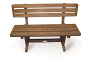 ExtruWood recycled plastic lapa bench with back