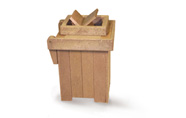 ExtruWood recycled plastic mp square freestanding