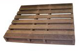ExtruWood recycled plastic pallet 2 way entry double sided 12x1m