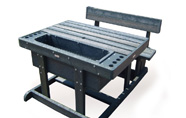 ExtruWood recycled plastic polo scoring table