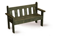 ExtruWood recycled plastic princess bench