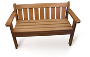 ExtruWood recycled plastic queen bench