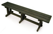 ExtruWood recycled plastic school bench