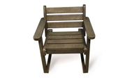 ExtruWood recycled plastic single seater garden chair