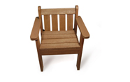 ExtruWood recycled plastic single seater
