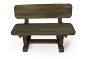 ExtruWood recycled plastic sleeper bench with back