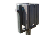 ExtruWood recycled plastic square bin swivel