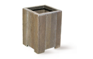 ExtruWood recycled plastic square dustbin with base