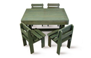 ExtruWood recycled plastic toddler table chairset