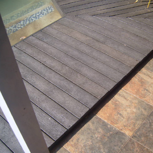 ExtruWood recycled plastic decking 2