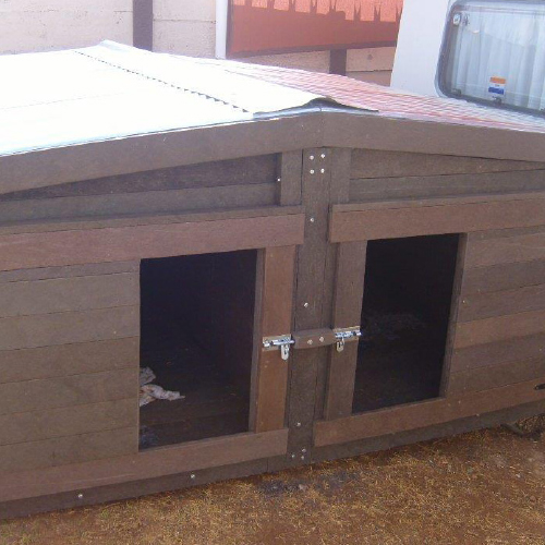 ExtruWood recycled plastic dog house