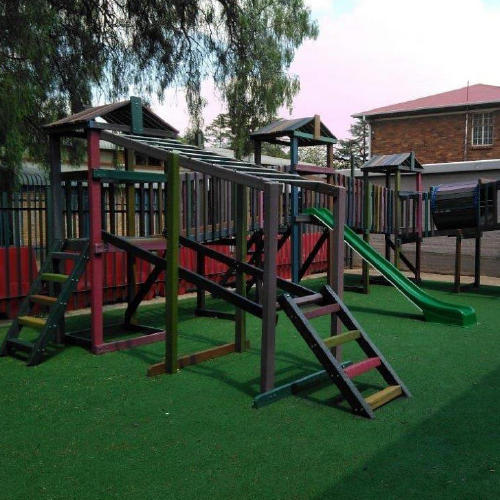 ExtruWood recycled plastic jungle gym 2