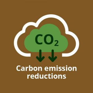 ExtruWood recycled plastic side bar carbon reductions